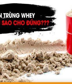 Các loại whey protein tốt nhất nên dùng