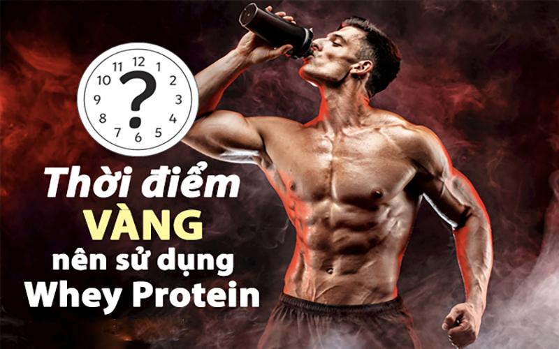 Thời điểm nào nên uống Whey Protein
